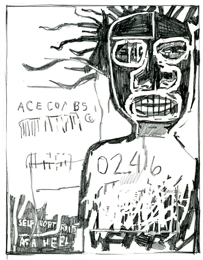 Basquiat self-portrait