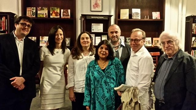 Bellow readers: Adam Kirsch, Deborah Triesman, AM Homes, Beena Kamlani, Colum McCann, me, Norma Manea